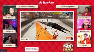 BATTLE OF THE KHAKIS    Jake from State Farm playing NBA 2K22 w/ Goldy & Friends #ad !statefarm