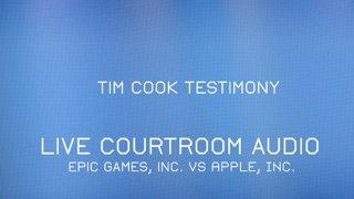 Tim Cook Apple vs. Epic Testimony