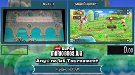 Mudkip vs AnonElephant. New SMB Wii No World 5 Tournament 2021
