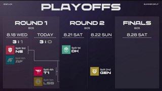 T1 vs LSB | 2021 LCK Summer PLAYOFFS Round1 Day2