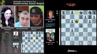 Highlight: Ivanchuk on Goldmoney Asian Rapid Day 2