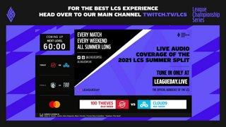 100 vs. C9 | Lower Bracket Final | LCS Summer Split | 100 Thieves vs. Cloud9 (2021)