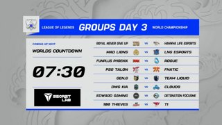 Groups Day 3 | Worlds 2021