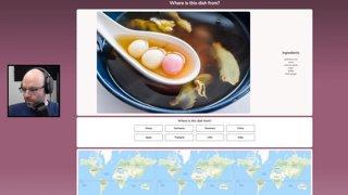 its GeoGuessr but food