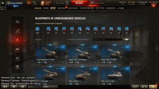 91.5 million credits and 1008 blueprints spent on 18 tier 10 tanks
