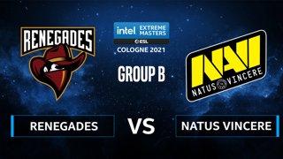 CS:GO - Natus Vincere vs Renegades [Dust2] Map 2 - IEM Cologne 2021 - Group B