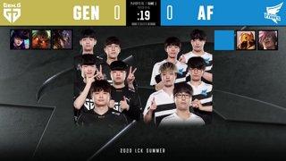 [2020 우리은행 LCK Summer Split] 플레이오프 1라운드  l GEN vs. AF