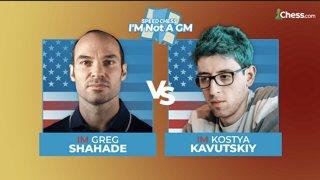 Greg Shahade vs Kostya Kavutskiy | I'm Not a GM Speed Chess Championship