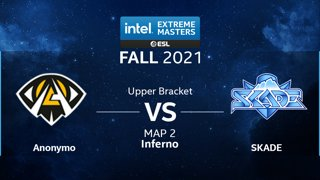 CS:GO - Anonymo vs. SKADE [Inferno] Map 2 - IEM Fall Closed Qualifiers 2021 - Europe - Upper Bracket