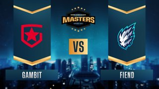 CS:GO - Gambit vs. Fiend [Dust2] Map 1 - DreamHack Masters Spring 2021- Group A