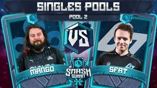 Mang0 vs SFAT - Singles Pools: Pool 2 - Smash Summit 10 | Falco vs Fox