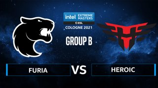 CS:GO - FURIA vs Heroic [Nuke] Map 2 - IEM Cologne 2021 - Group B