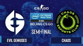 CS:GO - Evil Geniuses vs. Chaos [Overpass] Map 1 - IEM Beijing 2020 Online - Semi-final - NA