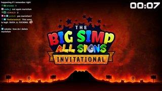 HorrorDoesSpeedruns Vs. Dumpdome | Big Simp All Signs Invitational Bronze Match