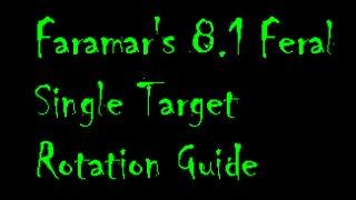 Faramar 8.1 Single Target Rotation Guide