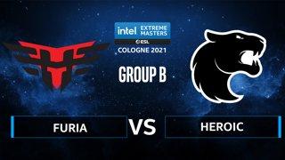 CS:GO - FURIA vs Heroic [Ancient] Map 1 - IEM Cologne 2021 - Group B