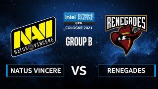 CS:GO - Natus Vincere vs Renegades [Inferno] Map 1 - IEM Cologne 2021 - Group B