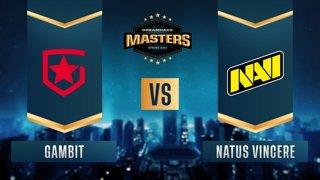 CS:GO - Gambit vs. Natus Vincere [Overpass] Map 1 - DreamHack Masters Spring 2021 - Grand-final