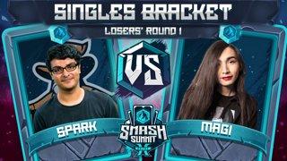 Spark vs Magi - Singles Bracket: Losers' Round 1 - Smash Summit 10 | Sheik vs Falco