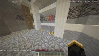 Minecraft Credits Warp in 1:54
