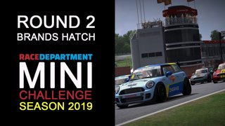 Highlight: 2019 RaceDepartment MINI Challenge by Extreme Simracing | Round 2 - Brands Hatch