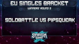 Solobattle vs Pipsqueak - EU Singles Bracket: Semifinals - Smash Summit 10 | Puff vs Fox