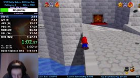 Super Mario 64 SM64 120 Star PB = 1:47:01