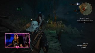 Highlight: Playing the Witcher 3! Kiera and my date!  !english
