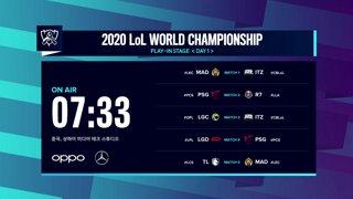 [2020 LoL 월드 챔피언십] 플레이인 그룹 스테이지 1일차