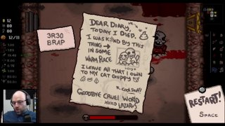 Would You Risk Your Save To Win As Tainted Laz (TBOI Repentance 205)