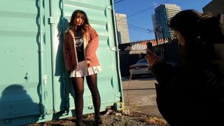 social distance photoshoot with !grace
