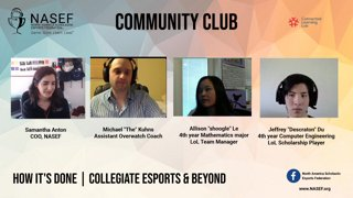 Highlight: How It's Done: Collegiate Esports | NASEF Community Club | !btg