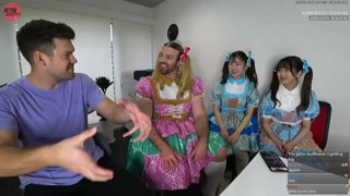 ladybeard learns about twitch