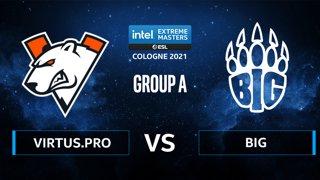 CS:GO - Virtus.pro vs BIG [Dust2] Map 1 - IEM Cologne 2021 - Group A