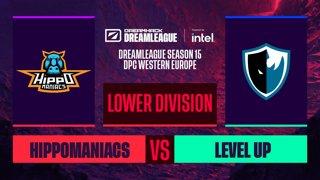 Dota2 - Level UP vs. Hippomaniacs - Game 2 - DreamLeague S15 DPC WEU - Upper Division