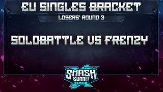 Solobattle vs Frenzy - EU Singles Bracket: Losers' Round 3 - Smash Summit 10 | Puff vs Falco