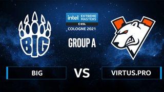 CS:GO - Virtus.pro vs BIG [Inferno] Map 2 - IEM Cologne 2021 - Group A