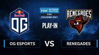 CS:GO - Renegades vs OG Esports [Inferno] Map 2 - IEM Cologne 2021 - Play-In