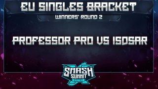 Professor Pro vs Isdsar - EU Singles Bracket: Semifinals - Smash Summit 10 | Fox vs Captain Falcon