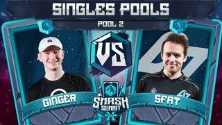 Ginger vs SFAT - Singles Pools: Pool 2 - Smash Summit 10 | Falco vs Fox