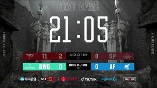 T1 vs. SP - DWG vs. AF [2020 LCK Summer Split]