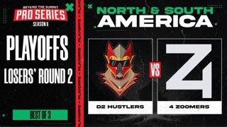 D2 Hustlers vs 4 Zoomers Game 1 - BTS Pro Series 8 AM: Playoffs w/ Kmart, ET & Pandaego