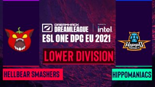Dota2 - Hippomaniacs vs. Hellbear Smashers - Game 1 - DreamLeague Season 14 DPC: EU - Lower Division