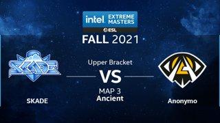 CS:GO - Anonymo vs. SKADE [Ancient] Map 3 - IEM Fall Closed Qualifiers 2021 - Europe - Upper Bracket