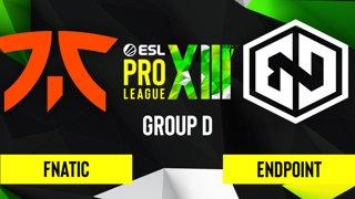 CS:GO - Endpoint vs. Fnatic [Overpass] Map 2 - ESL Pro League Season 13 - Group D