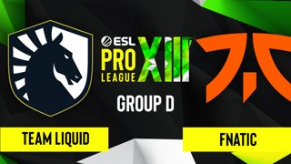CS:GO - Team Liquid vs. fnatic [Overpass] Map 1 - ESL Pro League Season 13 - Group D