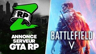 Annonce du serveur GTA RP, puis Découverte de Battlefield V avec Gius sur l'ordinateur portable (opé Xbox, Fnac, ASUS et Nvidia, #ad mdr)