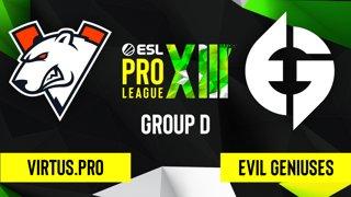 CS:GO - Virtus.pro vs. Evil Geniuses [Overpass] Map 1 - ESL Pro League Season 13 - Group D