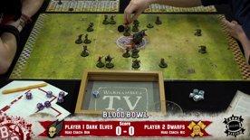 Blood Bowl - Dark Elves vs Dwarfs Match Report