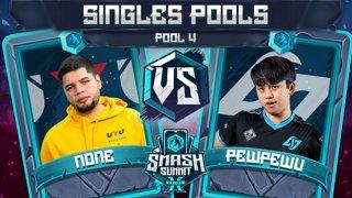 n0ne vs PewPewU - Singles Pools: Pool 4 - Smash Summit 10 | Captain Falcon vs Marth